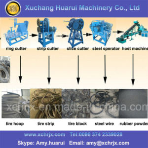 Rubber Crumb Production Line/Tyre Recycling Chain/Recycle Tire Machine pictures & photos