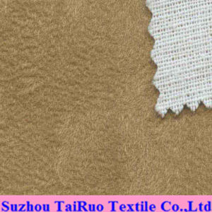 Microfiber Suede Fabric with Composite Mesh for Sofa Fabric pictures & photos