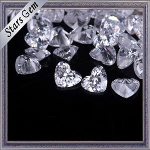 Beautiful Heart Shape Cubic Zirconia for Jewelry pictures & photos