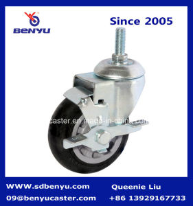 Medium Duty Caster Wheel with Twin Brake for Shopping Cart pictures & photos
