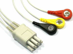 Snap&Clip 7pin 3&5 Trunk&Leadwire ECG Cable pictures & photos