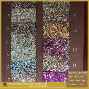Shiny Fashion Hot Sale Glitter PU Leather for Shoe (SP054) pictures & photos