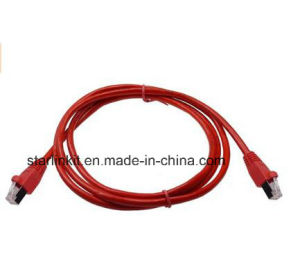 10g CAT6A Snagless Patch Cable with 50u RJ45 Red pictures & photos
