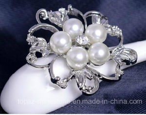 Luxury Fashion Jewelry Brooch Flower Alloy Pearl Brooch (TB-021 flower) pictures & photos