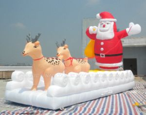 Inflatable Christmas Santa Claus Giant Ballons, Snata and Deer Advertising Balloon (K2041) pictures & photos