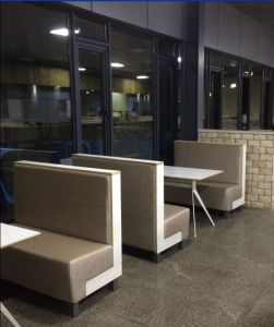 Hot Sale Modern Style Steel Wood Restaurant Sofa Booth pictures & photos