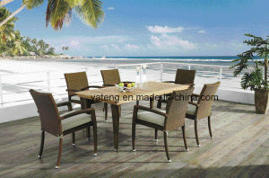 Outdoor Garden Banquet Chair & Table Dining Set High Quality Restaurant Dining Set (YT362) pictures & photos