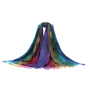 2016 Hot Selling Indian Women′s Fashionable Jacquard Cotton Scarf pictures & photos
