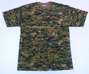 Custom High Quality Tactical Camo T-Shirt with Round Neck pictures & photos