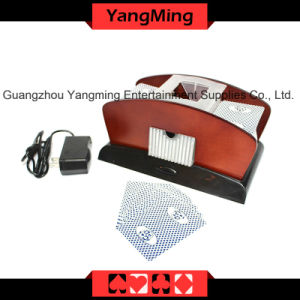 2 Deck Wood Card Shuffler (For 1-2decks playing cards) (YM-CS06) pictures & photos