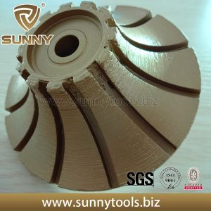 Sunny Vacuum Brazed Diamond Profile Wheel Full Bull Nose Shape pictures & photos