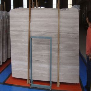Polished White Marble Panels with Wooden Vein pictures & photos