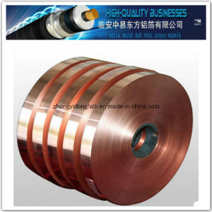 Copper Foil Laminate Polyester Film Cu Pet Tape for Coaxial Cable pictures & photos
