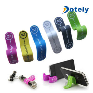Magnetic Silicone Band Cable Tie for Smartphone Stand pictures & photos