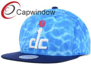 Blue Sea Water Printed Cotton Promotional Leisure Baseball/ Snapback Hat pictures & photos