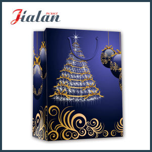 High Quality UV&Hot Stamping Christmas Shopping Bag pictures & photos