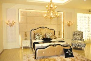 European Antique Fabric Queen Bed (BDFL-07353)