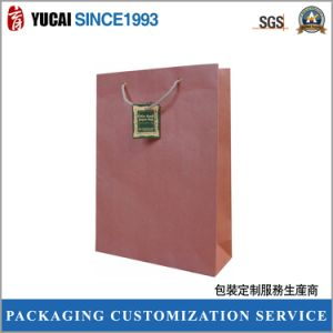 2017 Brown Kraft Paper Shopping Bag in Super Quality pictures & photos