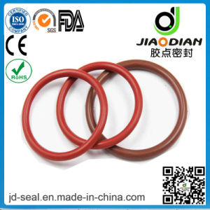 High Performance Light Red Silicone 70 Duro DIN-3601 with RoHS Confirmed O-Ring for Hydraulic (O-RING-0129) pictures & photos