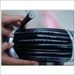 SAE100 R8 Tensile Fiber Braid Hydraulic Rubber Flexible Hose