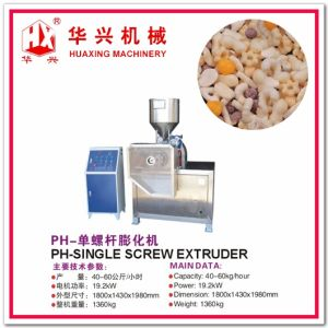 pH-Single Screw Extruder (Puff Snack Production Line/Rice Snack 40-60Kg/h and 150-200Kg/h) pictures & photos