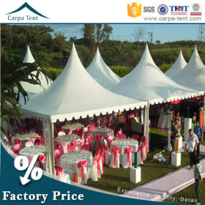 Fabric Structures 6mx6m White Canvas Sidewall Hang Ceiling Pagoda Tent pictures & photos