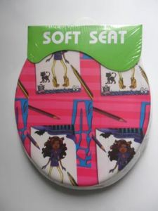 PVC Color Printed Soft Toilet Seat