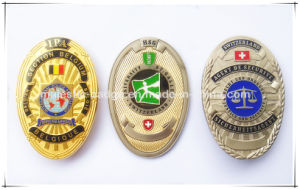 3D Double Plating & Epoxy Badge pictures & photos
