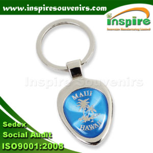 Oval Keychain with Palm Tree for Souvenir (K102CD) pictures & photos
