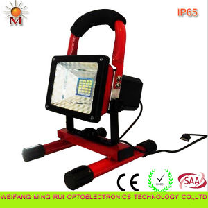 10W Portable Rechargeable Automotive Caution LED Flood Light with CE/RoHS pictures & photos