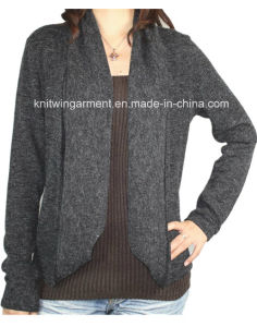 Ladies Knitted Long Sleeve Cardigan Sweater for Casual (12AW-164) pictures & photos