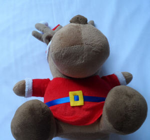 Brown Sitting Teddy Bear with New Soft Material Merry Christmas Toys pictures & photos