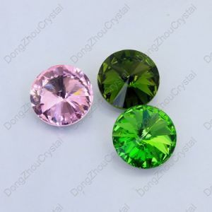 Shining Fancy Colorful Point Back Round Shaped Glass Stones for Jewelry Accessories pictures & photos