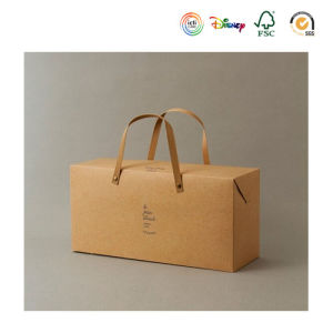 Brown Kraft Paper Carrying Bag with Handles pictures & photos