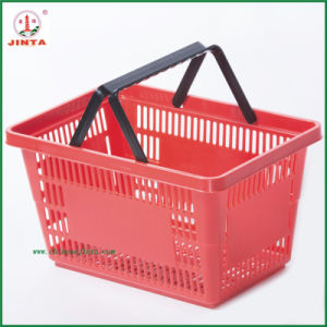 Double Handle Portable Shopping Basket Used in Supermarkets (JT-G06) pictures & photos