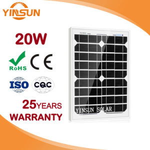 Factory Direct Sale 20W PV Solar Panel for Solar System pictures & photos