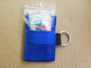 High Quality One Way Valve Disposable CPR Pocket Mask Keychain pictures & photos