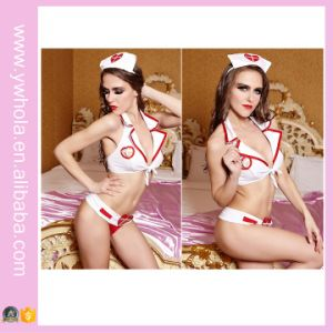 Hot White Red Sexy Cosplay Nurse Hot Lingerie Costume Christmas Cosplay Uniform Lingerie pictures & photos