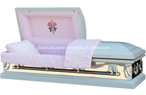 White Mirror Rose 18 Gauge Steel Casket pictures & photos