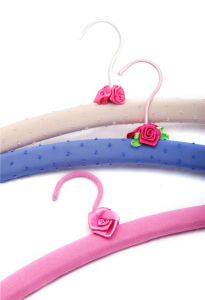 Colored Cotton Fabric Padded Hanger for Dry Clothes (YLFBCV0s) pictures & photos