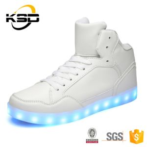 Fashionable Men and Women High Heel Running Sneaker LED Shoes pictures & photos