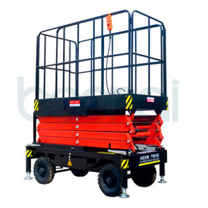 Manganese Steel Mobile Scissor Lift (Max Platform Height 6m) pictures & photos