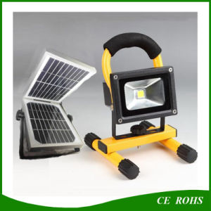 2 Years Warranty Portable Fishing Lamp 10W Solar LED Flood Light with Solar Powered Panel pictures & photos