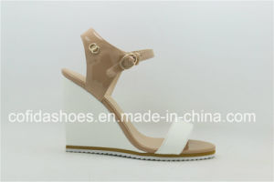 Fashion Wedge Heel Women Sandal with Simple Design pictures & photos