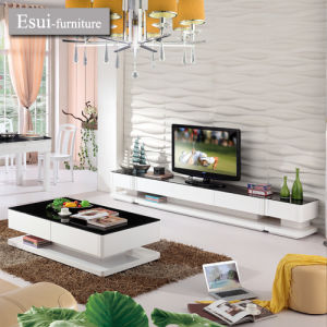China The Modern Living Room Furniture Glass TV Cabinet KT801