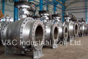 Big Size API6d Full Port Flanged Trunnion Mounted Ball Valve pictures & photos