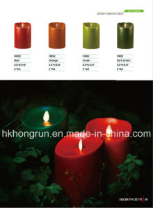 Moving Flameless LED Candle (HR82)
