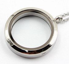Factory Direclty 30mm Rd 316L Stainless Steel Floating Locket Pendant Without Stones pictures & photos