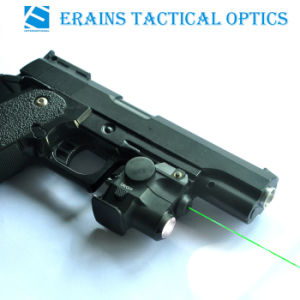 Sub Compact Glock and Full Size Handgun Fittable Aluminium Tactical Pistol 180 Lumens LED Flashlight with Green Laser Sight pictures & photos