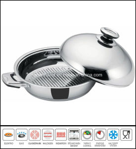 Stainless Steel Jumbo Skillet with Dome Cover pictures & photos